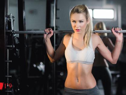Belle à la gym